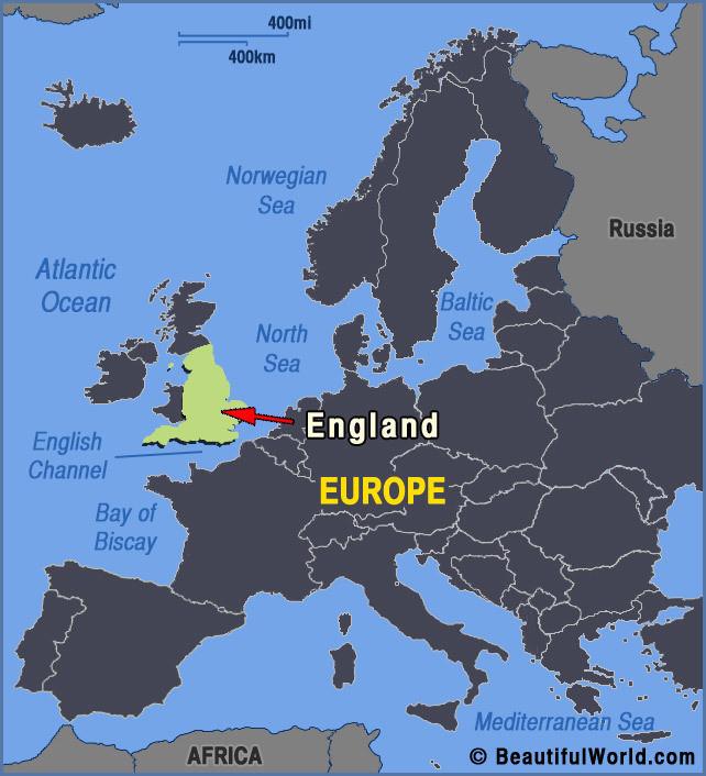 英国与欧洲大陆地图