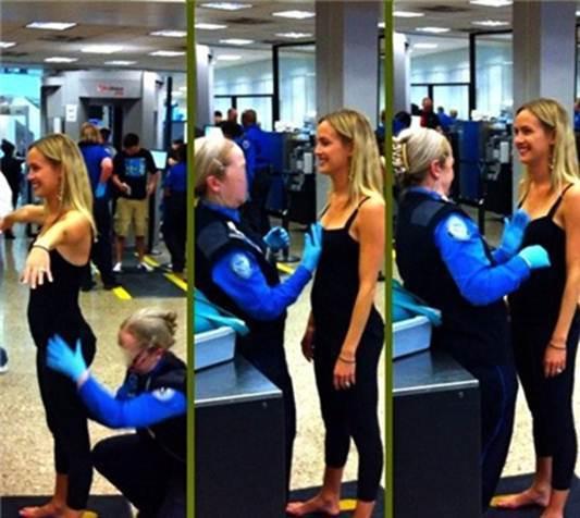 【没想到飞机场安检员竟然是这么污的职业!】-突袭网