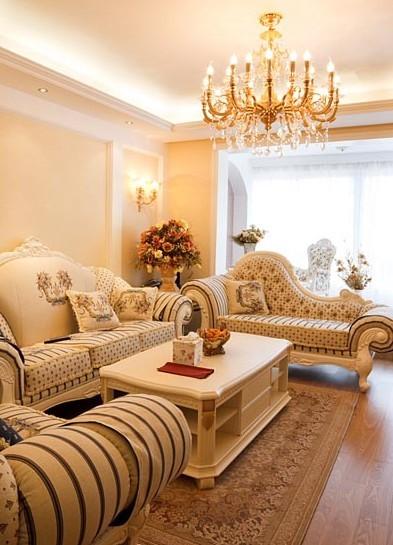 欧式客厅装修效果图:欧式客厅效果图,融合现代设计元素