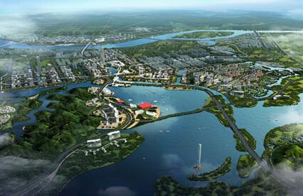 """一带,四心,九片区""""的功能结构,是清远正在崛起的一座生态新城,碧桂园"""