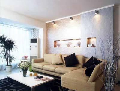 现代化客厅背景墙大厅沙发背景墙图片2