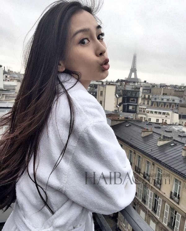 杨颖(angelababy) 晒巴黎生活美照