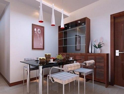 客厅餐桌效果图:简约中式餐厅装修借鉴