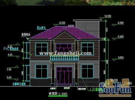农村两层房屋外观图 农村二层房屋设计图