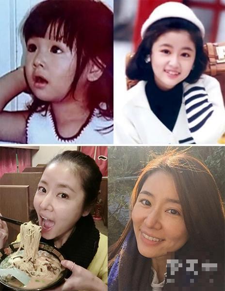 但是这张清纯大脸很有亲和力,小时候的赵丽颖眼睛大大,呆萌模样很可爱