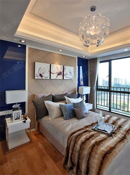 98平方婚房后现代风格三居室装修效果图