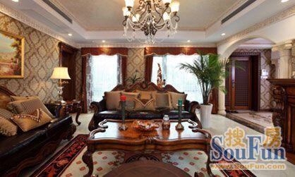 欧式联排别墅装修效果图 展现华贵经典的王者风范