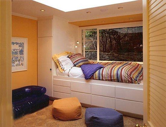 床铺飘窗二合一空间 8款卧室创意飘窗设计