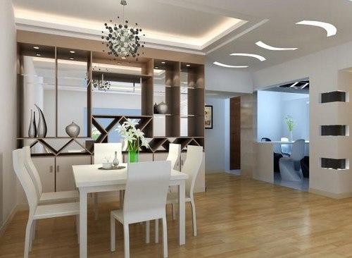 客厅餐桌效果图:温馨欧式格调的餐厅空间