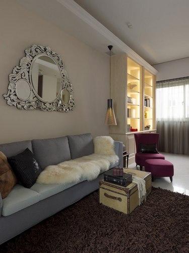 60平米两居室小客厅美家 现代机能时尚家装修设计