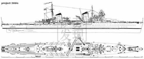 水上飞机弹射器 卡冈诺维奇号所属的基洛夫级巡洋舰是苏联第二次五年